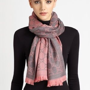 Accessories - GG Logo Reversible Wool Scarf